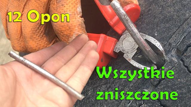 wymiana kola tir przebita opona tir