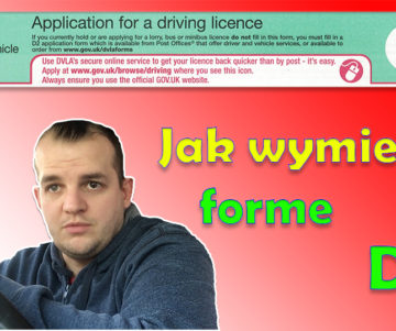 Forma D1 wymiana prawa jazdy na brytyjskie