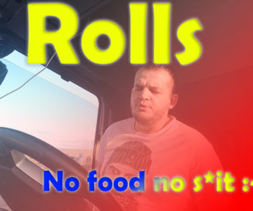 No Food No Shit hgv drivers